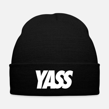 Tag Yass - Knit Cap with Cuff Print
