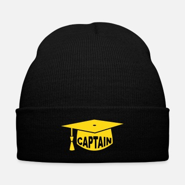 Captain doctor hat captain - Knit Cap with Cuff Print