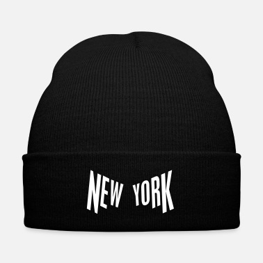 Nyc New York - Knit Cap with Cuff Print