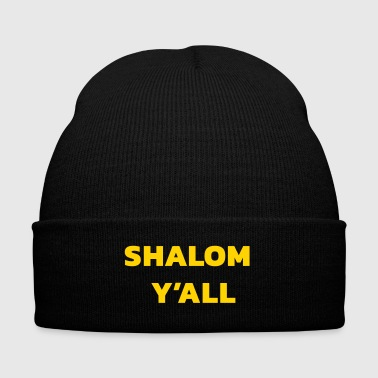Shalom Y'all - Knit Cap with Cuff Print