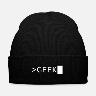 Geek GEEK - Knit Cap with Cuff Print