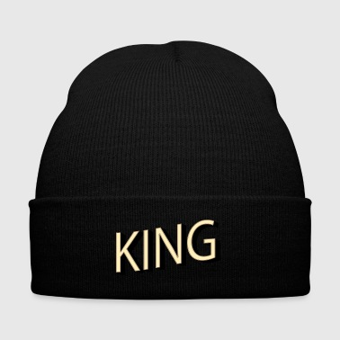 KING - Knit Cap with Cuff Print