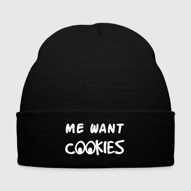Me Want Cookies - Knit Cap with Cuff Print