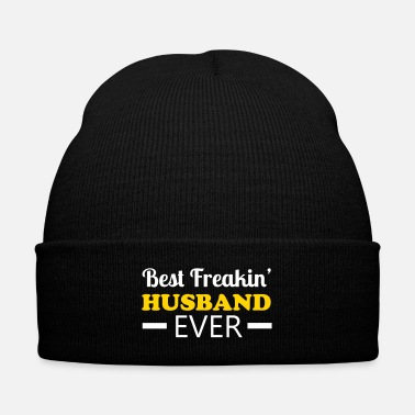 Husband Husband - Knit Cap with Cuff Print