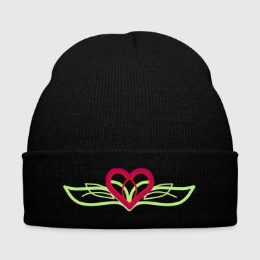 Designer Heart - Knit Cap with Cuff Print