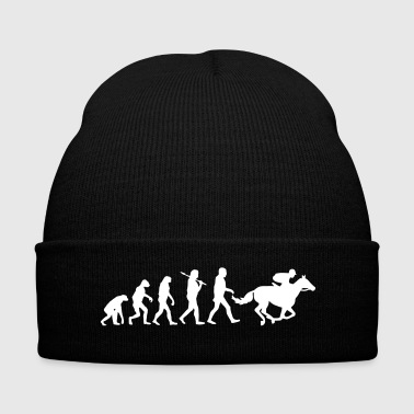 Horse Racing Evolution  - Knit Cap with Cuff Print