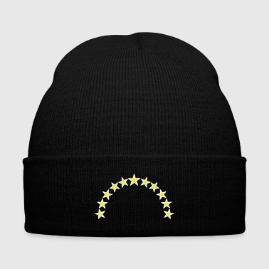 Stars - Knit Cap with Cuff Print