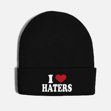 I Love I Love haters - Knit Cap