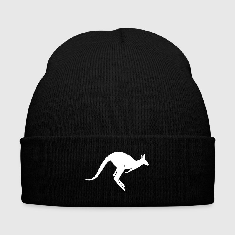 A hopping kangaroo - Knit Cap with Cuff Print