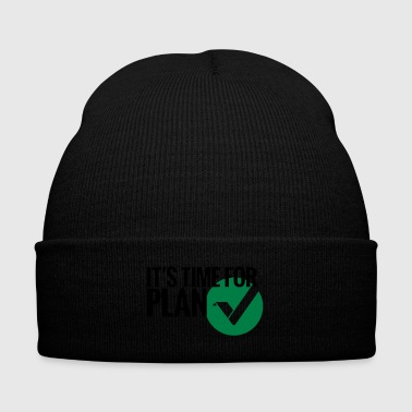 Time for Plan V(ertcoin) - Knit Cap with Cuff Print