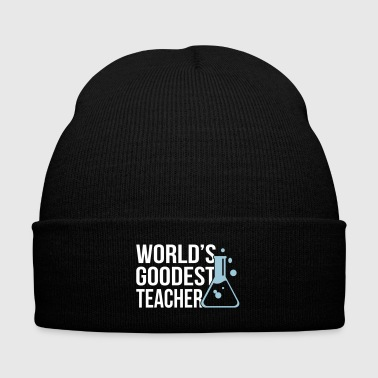 Teacher World's Goodest Teacher math - Knit Cap with Cuff Print
