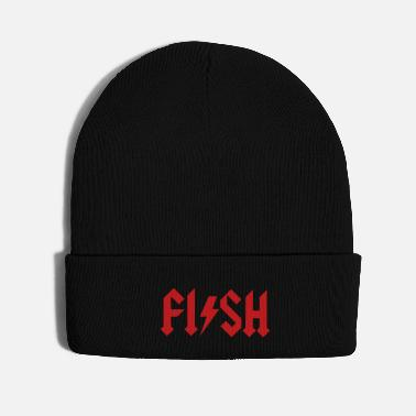 Carp FISH - fishing Hard Rock Metal music fisherman - Knit Cap
