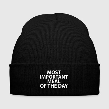 Meal Most Important Meal - Knit Cap with Cuff Print