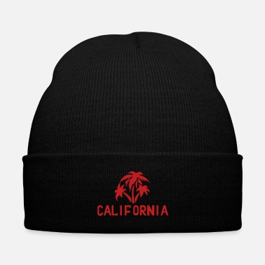 Palm Trees california palms - Knit Cap with Cuff Print