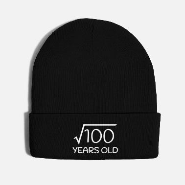 Old 10 Years Old - 10th Birthday (square root 100) - Knit Cap