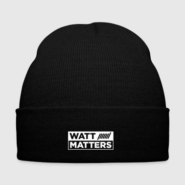 WATT MATTERS - Vape T-Shirt - Knit Cap with Cuff Print