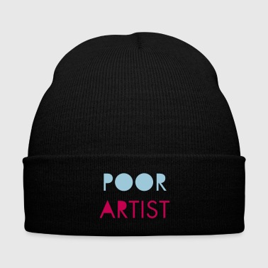 Poor Artist - Knit Cap with Cuff Print