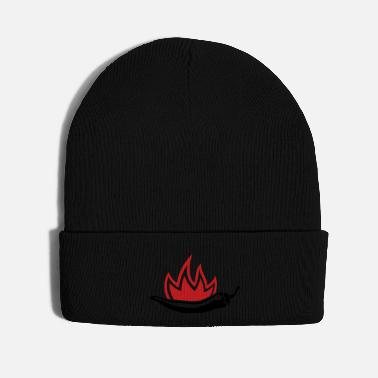 Pepperoni Chili fire flames - Knit Cap