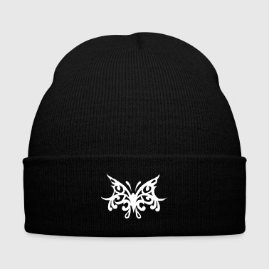 Butterfly Tribal - Knit Cap with Cuff Print