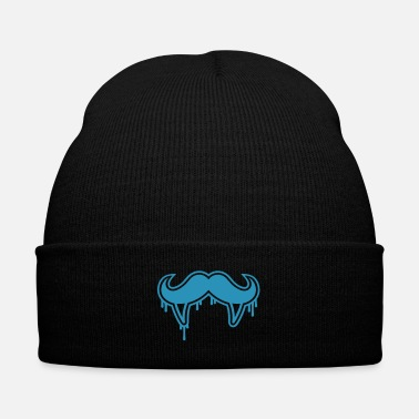 Hunger vampire moustache - Knit Cap with Cuff Print