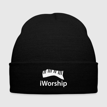 I Worship Piano Music Cool God Gift Play Nice Band - Knit Cap with Cuff Print
