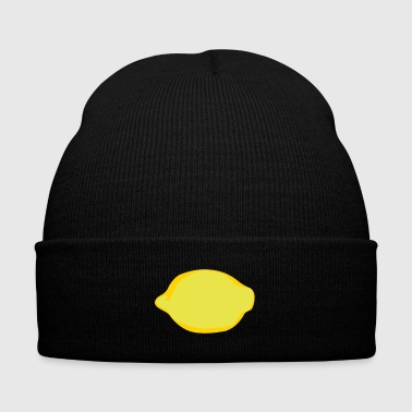 Lemon - Knit Cap with Cuff Print