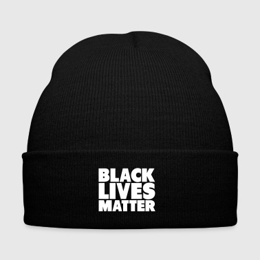 Black Black Lives Matter Shirt - Knit Cap with Cuff Print