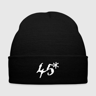 45 asterisk - Knit Cap with Cuff Print