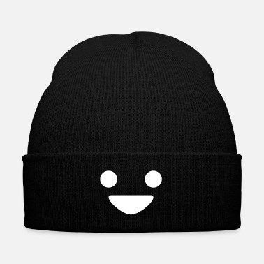 Happy Face A Happy Face - Knit Cap with Cuff Print