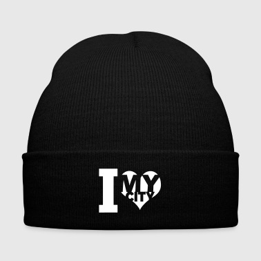 I love my city - Knit Cap with Cuff Print