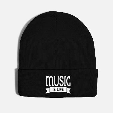 Music Note music is life - Knit Cap