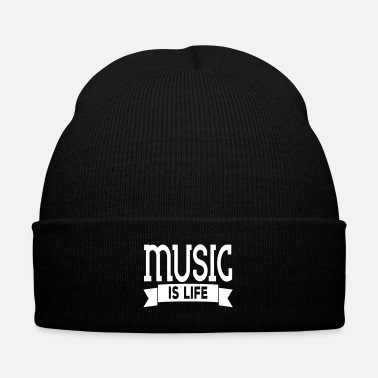 Emotion music is life - Knit Cap with Cuff Print