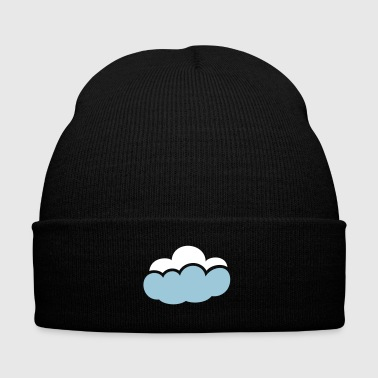 Cloud - Knit Cap with Cuff Print