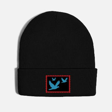 Fly flying doves on a stamp - Knit Cap