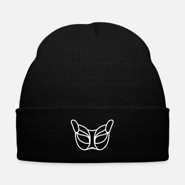 Mask Cat_mask_ga8 - Knit Cap with Cuff Print