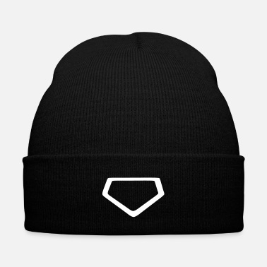 Baseball Home Plate - Knit Cap with Cuff Print