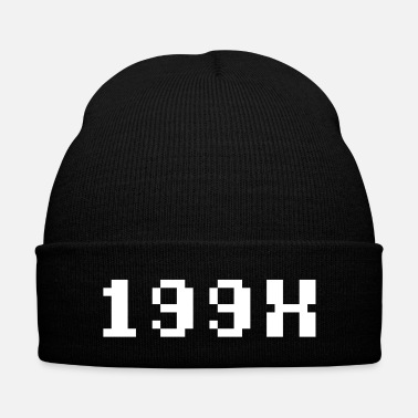 Childhood 199X - Knit Cap with Cuff Print