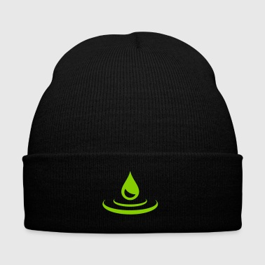 Water drop - water - Knit Cap with Cuff Print