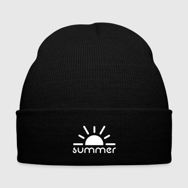 Summer - Knit Cap with Cuff Print
