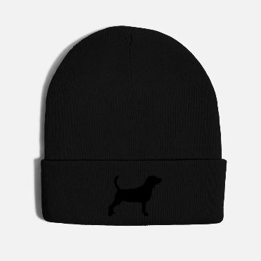 Dog Breed Beagle Silhouette - Knit Cap