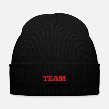 Goalkeeper ice hockey team - Knit Cap with Cuff Print