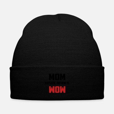 Down mom upside down - Knit Cap with Cuff Print