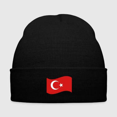 Turkish Turkish Flag - Knit Cap with Cuff Print