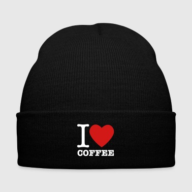 I Heart Coffee - Knit Cap with Cuff Print