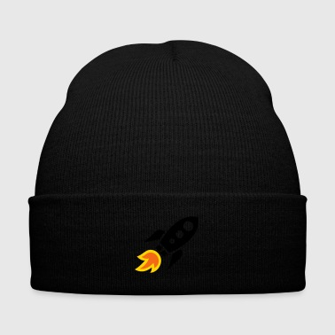 Space rocket - Knit Cap with Cuff Print