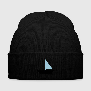 sailboat - boat - Knit Cap with Cuff Print