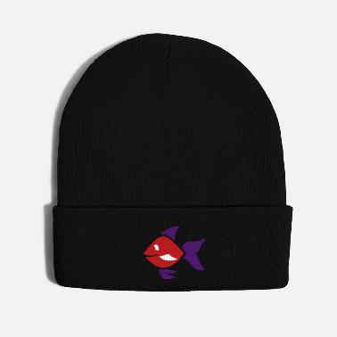 Fishes Fish - ornamental fish - aquarium - Knit Cap