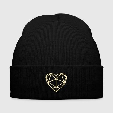 Geo Heart - Love - Knit Cap with Cuff Print