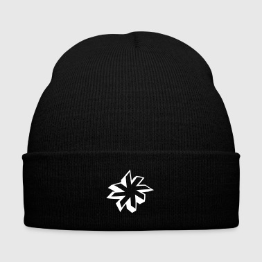 minimalistic star 3D - Knit Cap with Cuff Print