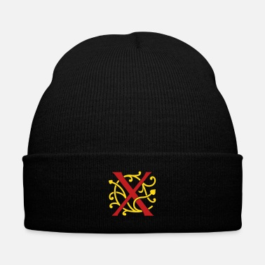 Ugly DIY FlexColor™ Monogram X • A4-2 – 2 Colors - Knit Cap with Cuff Print